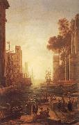 Claude Lorrain Embarkation of St Paula Romana at Ostia oil painting picture wholesale