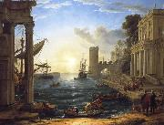 Claude Lorrain Seaport with the Embarkation of the Queen of Sheba oil painting picture wholesale