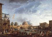 Claude-joseph Vernet A Sporting Contest on the Tiber at Rome oil painting picture wholesale