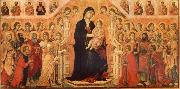 Duccio di Buoninsegna Maria and Child throning in majesty, hoofddpaneel of the Maesta, altar piece oil painting picture wholesale
