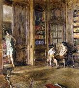 Edouard Vuillard In the Library oil painting picture wholesale