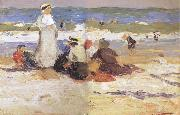Edward Henry Potthast Prints At the beach oil painting picture wholesale