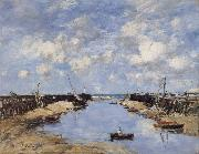 Eugene Boudin The Entrance to Trouville Harbour oil painting picture wholesale