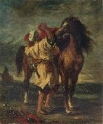 Eugene Delacroix Arab Sadding His Horse oil painting picture wholesale
