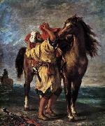 Eugene Delacroix Marocan and his Horse oil painting picture wholesale