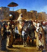 Eugene Delacroix The Sultan of Morocco and his Entourage oil painting picture wholesale
