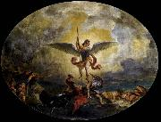 Eugene Delacroix St Michael defeats the Devil oil painting picture wholesale
