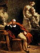 Eugene Delacroix Michelangelo in his Studio oil painting picture wholesale