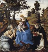 Filippino Lippi THe Virgin and Child with Saints Jerome and Dominic oil painting picture wholesale