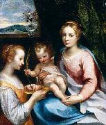 Francesco Vanni Madonna and Child with St Lucy oil painting artist
