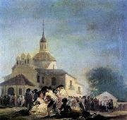 Francisco de goya y Lucientes Pilgrimage to the Church of San Isidro oil painting picture wholesale