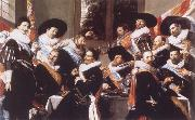 Frans Hals Banquet of the Officers of the Civic Guard of St Adrian oil painting picture wholesale