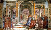 GHIRLANDAIO, Domenico Expulsion of Joachim from the Temple oil painting picture wholesale