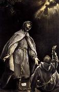 GRECO, El St Francis's Vision of the Flaming Torch oil painting picture wholesale