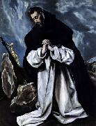 GRECO, El St Dominic in Prayer oil painting picture wholesale