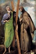 GRECO, El St Andrew and St Francis oil painting picture wholesale