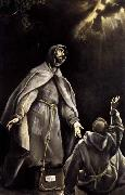 GRECO, El St Francis-s Vision of the Flaming Torch oil painting picture wholesale