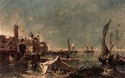 GUARDI, Francesco Landscape with a Fisherman-s Tent oil painting picture wholesale