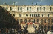 Gabriel Bella Inauguration of the Doge on the Scala dei Giganti oil painting picture wholesale