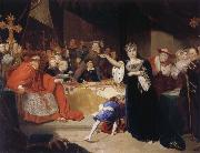 George Henry Harlow The Court for the Trial of Queen Katharine oil