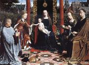 Gerard David THe Virgin and Child with Saints and Donor oil painting artist