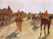 Germain Hilaire Edgard Degas Race Horses before the Stands oil painting picture wholesale