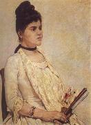 Giovanni Fattori Portrait of the Stepdaughter oil painting artist