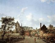 HEYDEN, Jan van der Approach to the Town of Veere oil painting picture wholesale