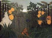 Henri Rousseau Repast of the Lion oil painting picture wholesale
