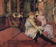 Henri de toulouse-lautrec At The Salon Rue des Moulins oil painting picture wholesale