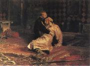 Ilya Repin Ivan the Terrible and his son ivan on 15 November 1581 1885 oil painting picture wholesale