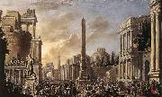Jacob van der Ulft Antique Forum with a Triumphal Procession oil painting picture wholesale