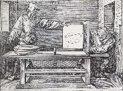 Jacopo de Barbari Man Drawing a lute with the monogram of the artist from the Manual of Measure-ment oil painting artist