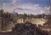 Jakob Philipp Hackert View of the Ruins of the Antique Theatre of Pompei oil painting picture wholesale