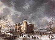 Jan Abrahamsz. Beerstraten The Castle of Muiden in Winter oil painting picture wholesale