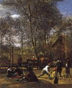 Jan Steen Skittle Players Outside an Inn oil painting picture wholesale
