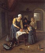 Jan Steen A Peasant Family at Mel-time oil painting picture wholesale