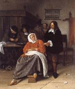 Jan Steen An Interior with a Man Offering an Oyster to a Woman oil painting picture wholesale