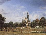 Jan van der Heyden View of the Westerkerk,Amsterdam oil painting picture wholesale