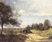 Jean Baptiste Camille  Corot THe Wagon oil painting picture wholesale