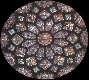 Jean Fouquet Rose window, northern transept, cathedral of Chartres, France oil