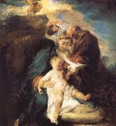 Jean antoine Watteau The rest in the flight to Egypt oil painting artist