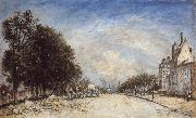 Johann Barthold Jongkind The Boulevard de Port Royal,Paris oil painting artist