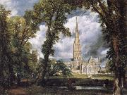 John Constable Salisbury Cathedral from the Bishop-s Grounds oil painting picture wholesale