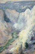 John Henry Twachtman Waterfall in Yellowstone oil painting picture wholesale