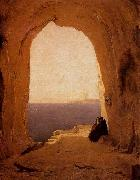 Karl Blechen Grotto in the Gulf of Naples oil painting artist