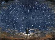 Karl friedrich schinkel Stage set for Mozart's Magic Flute oil painting picture wholesale