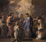 Luca Giordano Holy Ana and the nina Maria Second mitade of the 17th century oil painting picture wholesale