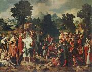 Lucas van Leyden THe Healing of the Blind man of Jericho oil painting picture wholesale