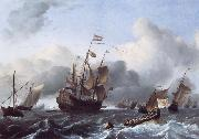 Ludolf Backhuysen The Eendracht and a Fleet of Dutch Men-of-War oil painting picture wholesale